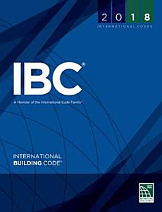 2018 International Building Code  International Code Council Series  1st Edition Book
