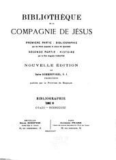Bibliothèque de la Compagnie de Jésus: Volume6