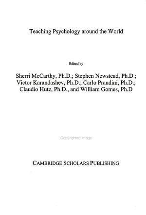 Teaching Psychology Around the World PDF