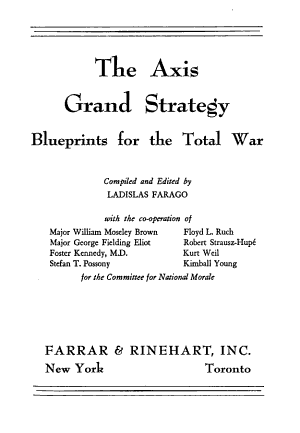 The Axis Grand Strategy