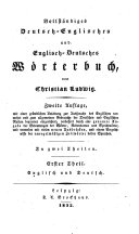 Complete Dictionary, English and German, and German and English