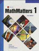 MathMatters  Book 1  Student Edition PDF