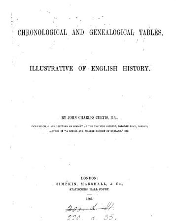 Chronological and Genealogical Tables  Illustrative of English History PDF