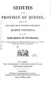 Statuts de la province de Québec ...: Statutes of the Province of Quebec