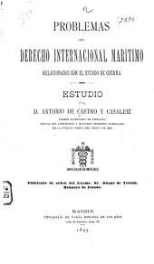 Problemas del derecho internacional marítimo relacionados con el estado de guerra
