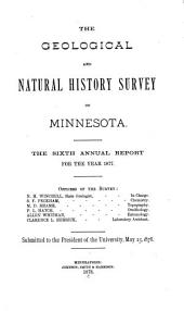 Annual Report - Geological and Natural History Survey of Minnesota: Volume 6
