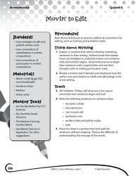 Writing Lesson Level 1 Sentence Beginnings And Endings Book PDF