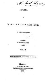 Poems by William Cowper ...
