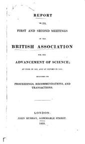 Report of the ... and ... Meetings of the British Association for the Advancement of Science: Issues 1-2