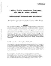 Linking Public Investment Programs and SPAHD Macro Models: Methodology and Application to Aid Requirements
