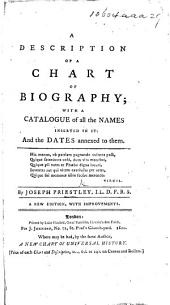A Description of a Chart of Biography ... A new edition, with improvements