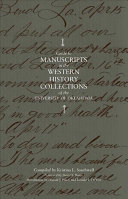 Guide to Manuscripts in the Western History Collections of the University of Oklahoma