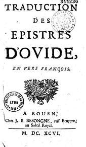 Traduction des épitres d'Ovide en vers français par l'abbé Barrin