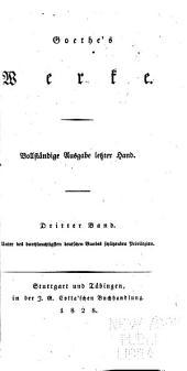Goethe's Werke: Bände 3-4