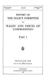 Report of the Select Committee on Wages and Prices of Commodities ...