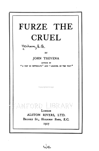 Furze the Cruel PDF