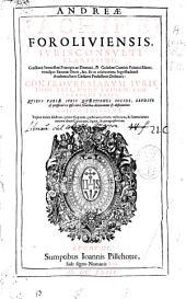 Andreae Fachinei ... Controuersiarum iuris tomi tres: nunc primum uno volumini editi ...