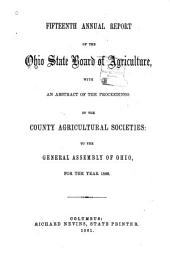 Annual Report of the Ohio State Board of Agriculture: Volume 15, Part 1860