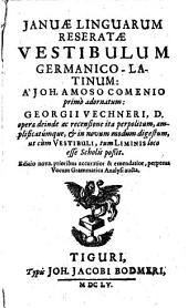 Ianuae linguarum reseratae vestibulum germanico-latinum