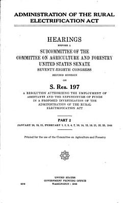 Administration of the Rural Electrification Act PDF