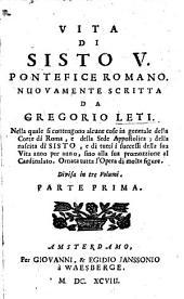 Vita di Sisto V., pontefice romano: Volume 1