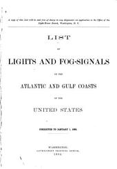 List of Lights and Fog-signals on the Atlantic and Gulf Coasts of the United States