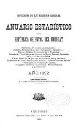 Annuario estadístico de la República Oriental del Uruguay