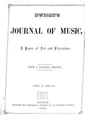Dwight's Journal of Music: Volumes 5-6