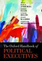 The Oxford Handbook of Political Executives PDF