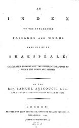 Dramatic Works with Explanatory Notes  A New Ed   to which is Now Added a Copious Index to the Remarkable Passages and Words by Samuel Ayscough PDF