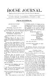 Proceedings Relative to the Impeachment of Governor Ferguson