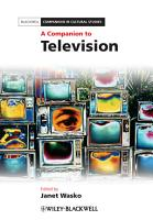 A Companion to Television PDF