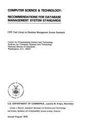 Recommendations for Database Management System Standards PDF