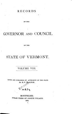 Records of the Governor and Council of the State of Vermont PDF