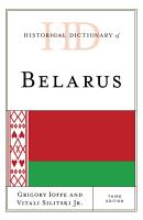 Historical Dictionary of Belarus PDF