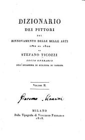 Dizionario dei pittori dal rinnovamento delle belle arti fino al 1800: Volume 2