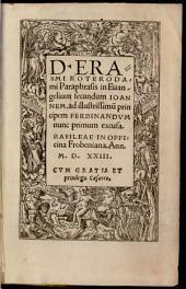 Paraphrasis in Evangelium secundum Johannem