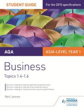 AQA Business Student Guide 2: Topics 1.4-1.6