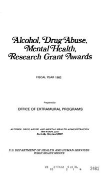 Alcohol  Drug Abuse  Mental Health  Research Grant Awards PDF