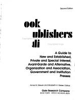 Book Publishers Directory PDF