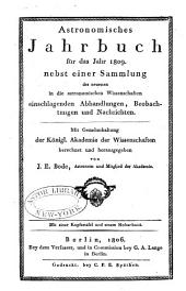 Berliner astronomisches jahrbuch...