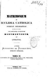 De matrimonio in ecclesia catholica