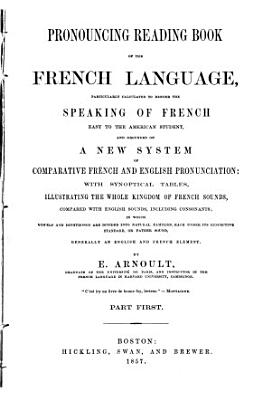 Pronouncing Reading Book of the French Language PDF