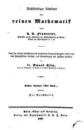 Vollständiger Lehrkurs der reinen Mathematik: Arithmetik, Band 1