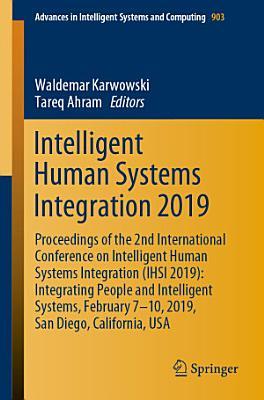 Intelligent Human Systems Integration 2019 PDF