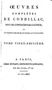 Œuvres complètes de Condillac: étude de l'histoire