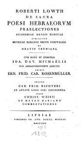 De sacra poesi Hebraeorum praelectiones academicae