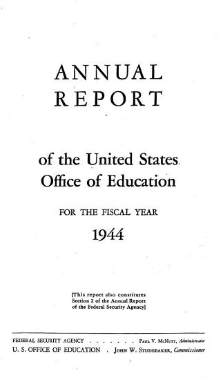Annual Report of the Federal Security Agency PDF