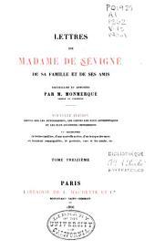 Lettres de Madame de Sévigné: de sa famille et de ses amis, Volume13