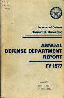 Annual Defense Department Report PDF